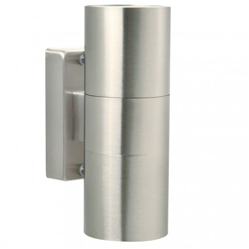 Nordlux Tin 240v wall up/down light stainless steel