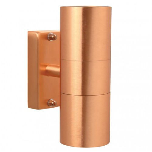 Nordlux Tin 240v wall up/down light copper