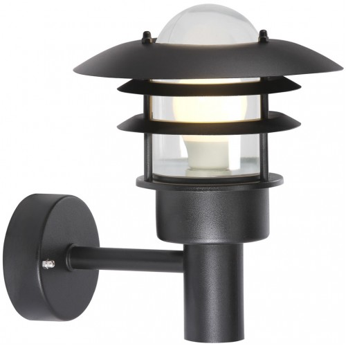 Nordlux Lonstrup 22 240v wall light black