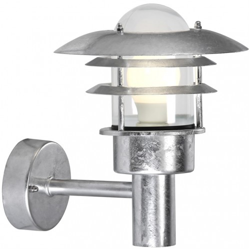 Nordlux Lonstrup 22 240v wall light galvanized steel