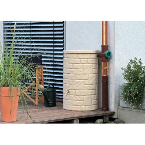 Technik Arcado 230L Sandstone Stone Pillar Style Water Butt Tank