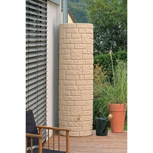 Technik Arcado 460L Sandstone Stone Pillar Style Water Butt Tank