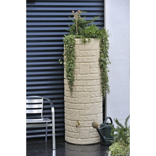Technik Arcado 360L Sandstone Stone Pillar Style Water Butt Tank