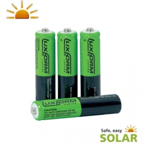 Luxform Solar Rechargeable AAA Batteries - pack of 4