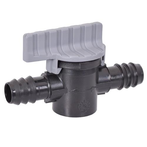 Tavlit Plastic barbed valve 16mm x 16mm