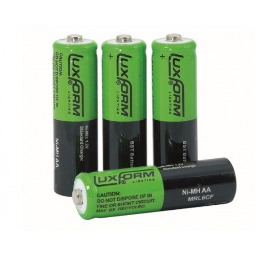 Luxform Solar Rechargeable AA Batteries - pack of 4