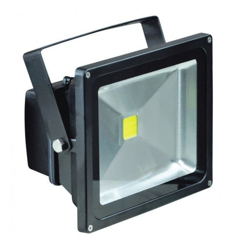 Eagle Black 240v Flood Light Warm White LED 30W - IP65